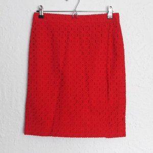 """J. Crew """"The Pencil Skirt"""", sz. 2, eyelet texture"""